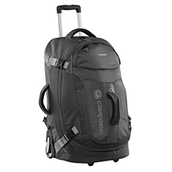 8f4237e06 CARIBEE TIME TRAVELLER 26IN WHEELED TROLLEY CASE WITH HARNESS (BLACK):  Amazon.co.uk: Sports & Outdoors