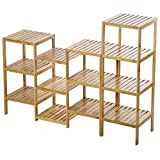 Bamboo Storage Shelf Rack Plant Display Stand 13-Tier Rack Unit + FREE E-Book