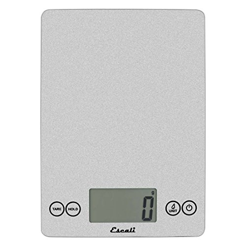 Escali 157SS Arti Glass Digital Scale, 9' x 6.5' x 0.75', Shiny Silver