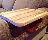Sofa Arm Snack Tray Table --- Ambrosia Maple (Rectangular)