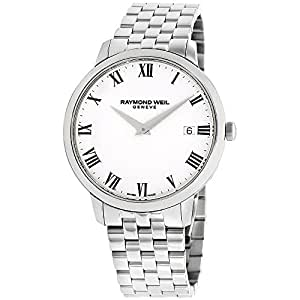 Raymond Weil 'Toccata' Swiss Quartz Stainless Steel Casual Watch, Color Silver-Toned (Model: 5588-ST-00300)