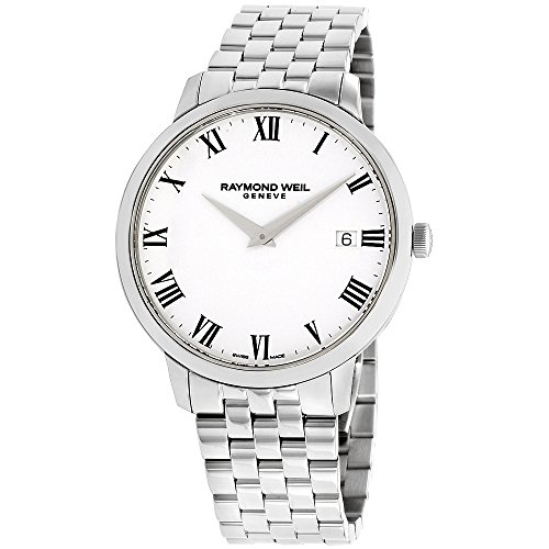 Raymond Weil 'Toccata' Swiss Quartz Stainless Steel Casual Watch, Color Silver-Toned (Model: 5588-ST-00300) - Raymond Weil Sapphire Wrist Watch