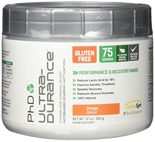 Phd Nutrition Ultra Durance Powder, Orange, 274 Gram by PhD Nutrition