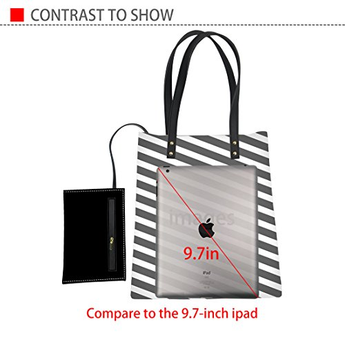 Travel with Totes Advocator 15 Women Color Bag Beach for Leather Tote PU Summer Handbags Casual Wallet wIqOzAFI
