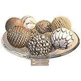 jodhpuri 9 piece decorative spheres natural multi colored - Decorative Orbs