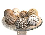 Jodhpuri 9 Piece Decorative Spheres, Natural Multi Colored