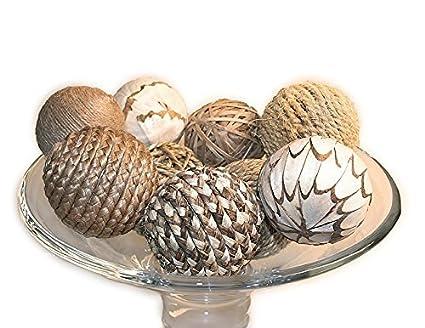 Amazon Jodhpuri 40 Piece Decorative Spheres Natural Multi Enchanting Natural Decorative Balls