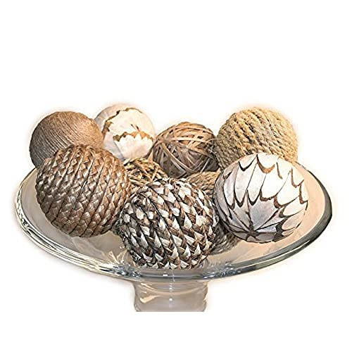 jodhpuri 9 piece decorative spheres natural multi colored