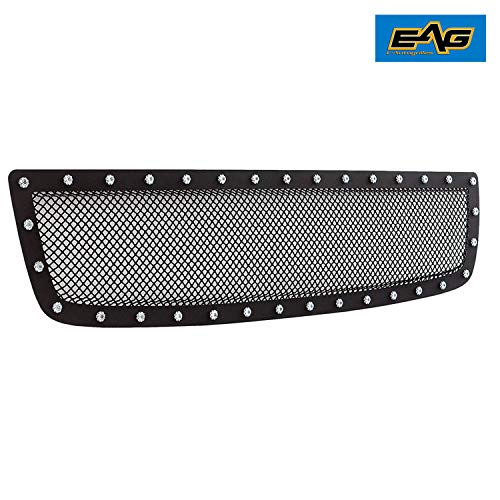 Overlay Grille Steel - E-Autogrilles Rivet Stainless Steel Wire Mesh Grille for 03-06 GMC Sierra 1500