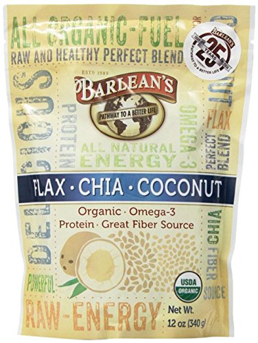 Barlean's Flax-Chia-Coconut Blend - Pouch - 12 Ounce (Pack of 2) (Chia Seeds And Coconut Oil For Energy)