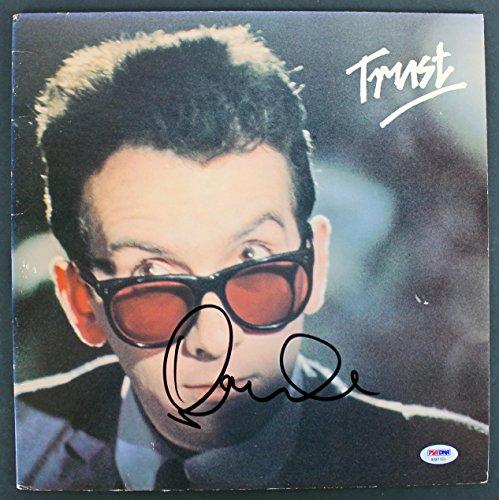 Trust Album - Elvis Costello Signed 'Trust' Album Cover W/Vinyl Autographed PSA/DNA #AB81103