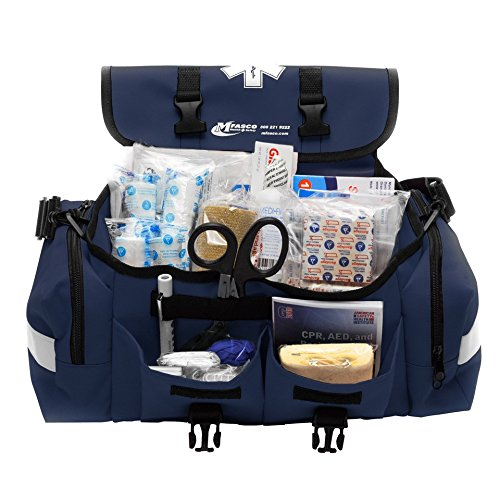 (MFASCO - First Aid Kit - Complete Emergency Response Trauma Bag - for Natural Disasters - Blue)