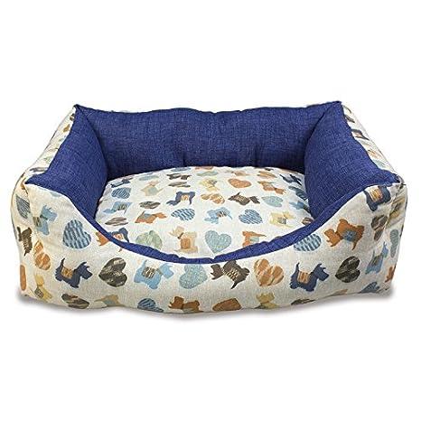 Arquivet 8435117894396 - Cama Perritos Azules 50 x 45 x 17 cm: Amazon.es: Productos para mascotas