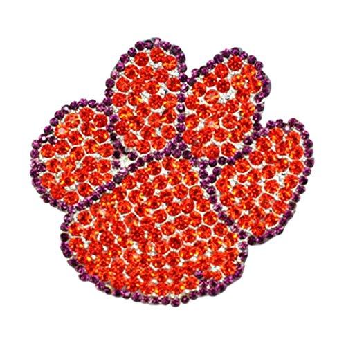[Clemson Tigers Crystal Logo Pin] (Cubs Fan Costume)