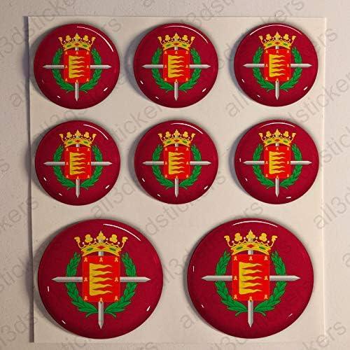 Pegatinas Bandera Valladolid Redondas 8 x Pegatina Valladolid ...