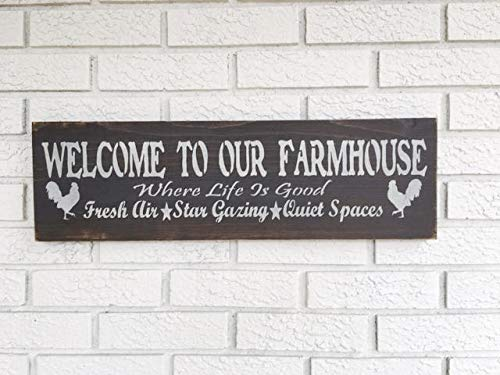 ouse Farmhouse decor Farm Life Sign Welcome Sign Farmhouse Style Farm Sign Farmhouse Sign Rustic Wood Sign Farm ()