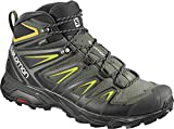 SALOMON X ULTRA 3 MID GTX MEN'S HIKING BOOTS CASTOR GRAY/BLACK/GREEN...