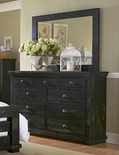 "Willow Drawer Dresser 64"" x 18"" x 42"" Black - Progressive Furniture P612-23"