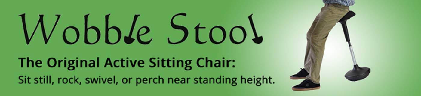 Wobble Stool Standing Desk Chair for Active Sitting Modern sit Stand up Desk stools high Perching Perch Office Chairs Tall Swivel Leaning Ergonomic Computer Balance by Uncaged Ergonomics