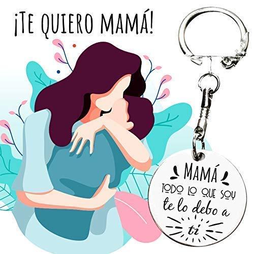 Llavero día de la madre con mensaje grabado