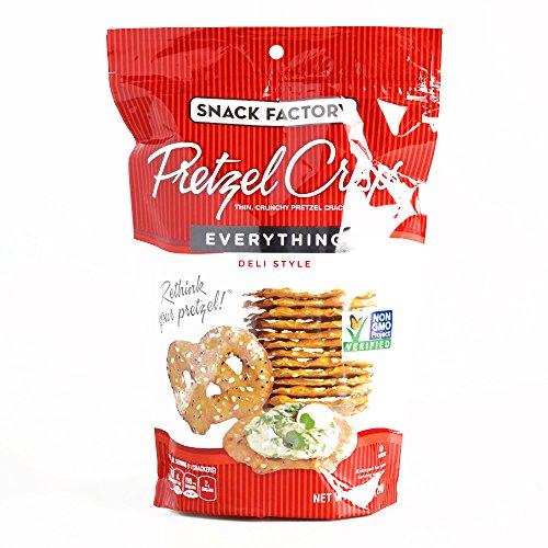 Snack Factory Everything Pretzel Crisps 7.2 oz each (1 Item Per Order, not per case)