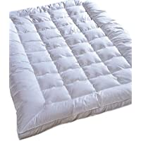 Highland Feather Manufacturing Down Touch Feather Mattress, King, White