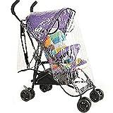 Braceus Universal Rain Stroller Cover, Waterproof Wind Dust Shield Baby Stroller Pushchair Pram Rain Cover