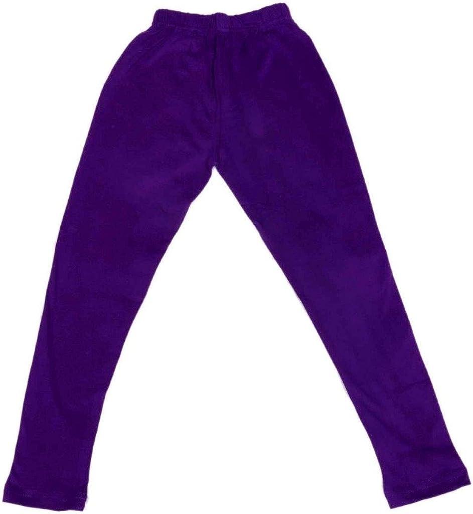 714070605040302010908-IW-34/_Multicolor/_11-12 Years Indistar Kids Solid Leggings Pants Pack of 9