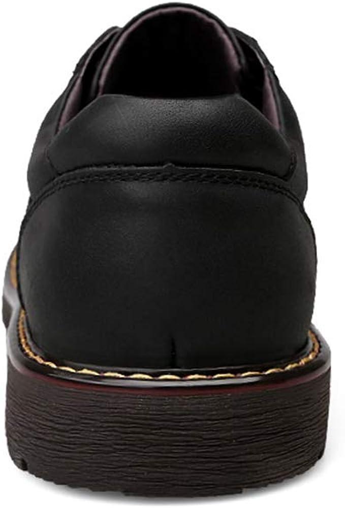 Le Cuir Bottes de Cheville pour Hommes Casual Simple Classique Bas-extérieur Extérieur Bottes Pantoufles Fashion Slipper Chaussures Noir