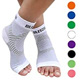BLITZU Plantar Fasciitis Socks with Arch Support, Foot Care Compression Sleeve, Eases Swelling & Heel Spurs, Ankle Brace Support, Relieve Pain Fast