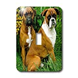 lsp_405_1 Dogs Boxer - Boxer - Light Switch Covers - single toggle switch