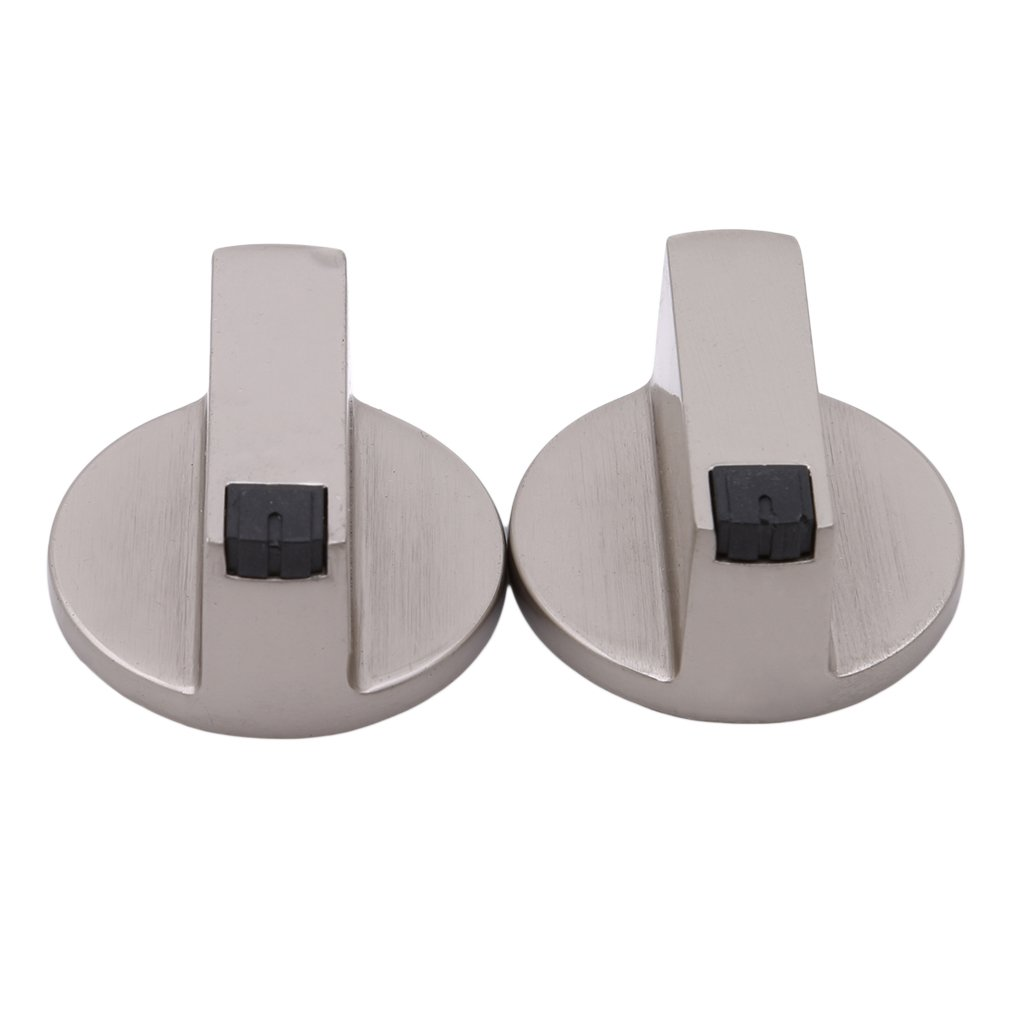 Dolland 2Pcs Gas Stove Knobs Kitchen Universal Metal Control Switch Knobs for Gas Cooker Oven Stove 8MM/6MM,Metal,8mm,45¡ã