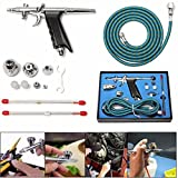 T-116B 3 Cups Airbrush Dual Action Nozzles Wrench Air Brush Spray Gun Paint Hose Kit
