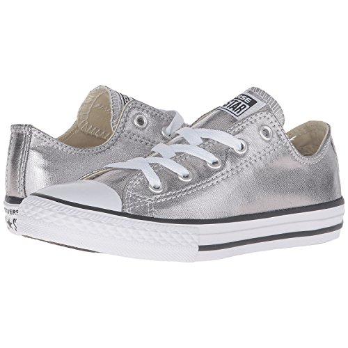 Converse Kid's Chuck Taylor All Star Seasonal Ox Fashion Sneaker Shoe - Metallic Gunmetal/White/Black - 2 by Converse