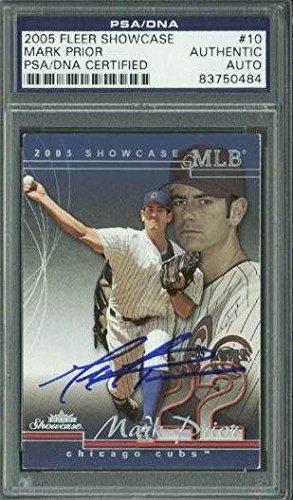 bb4e64710e7 Cubs Mark Prior Signed Card 2005 Fleer Showcase  10 Slabbed - PSA DNA  Certified