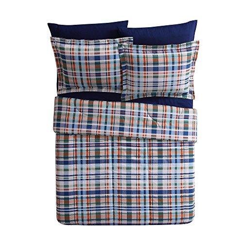 orange and blue quilt - 7