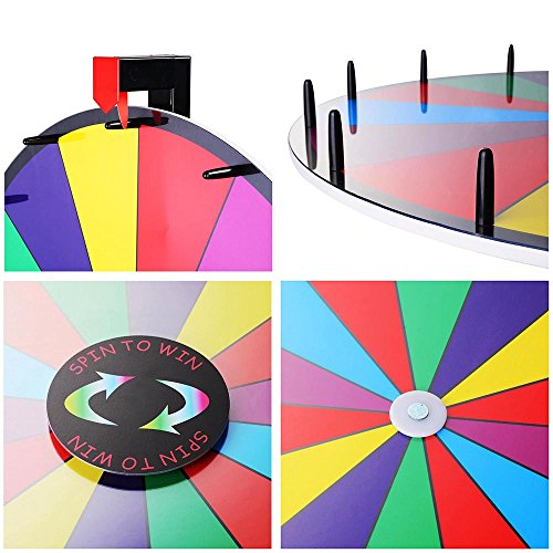 Winspin 24 tabletop spinning prize wheel 14 slots with - Show color wheel ...