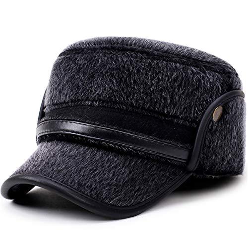 B e Grueso Invierno Sombreros Sombrero Edad de Gorra hat Mediana de Orejeras Sombrero béisbol Viejo de Sombrero qin cálido A GLLH Padre otoño de 0qg8AA