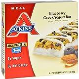 Atkins Advantage Bar, Blueberry Greek Yogurt, 5 Bars  1.7 Ounce