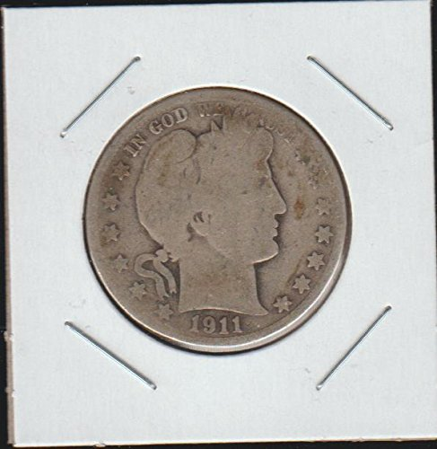 1911 Barber or Liberty Head (1892-1915) Half Dollar About Good