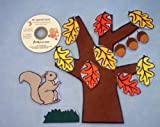 Squirrel's Secret Flannel Board Felt Set Story Time with Music CD