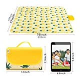 LEASEN Picnic Blankets, 79''×77'' Extra Large