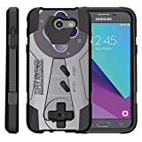 Cheap TurtleArmor | Compatible for Samsung Galaxy J3 Emerge Case | J3 (2017) [Dynamic Shell] Hybrid Dual Layer Hard Shell Kickstand Silicone Case – Classic Game Controller