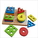 Shape Sorting Cube Block, Adv-one Creative Wooden