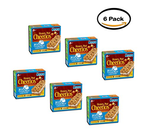 PACK OF 6 - Honey Nut Cheerios Milk 'n Cereal Bars Treat Bar 6 - 1.4 oz Bars