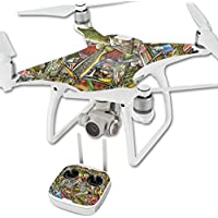 MightySkins Skin For DJI Phantom 4 Quadcopter Drone – Fish Puzzle Protective, Durable, and Unique Vinyl Decal wrap cover | Easy To Apply, Remove, and Change Styles | Made in the USA