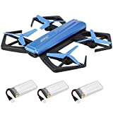Goolsky JJR/C H43WH Wifi FPV Drone with 720P HD Camera Headless Mode&G-sensor&Altitude Hold 2.4GHz 4CH 6-Axis Gyro RC Quadcopter Includes 3 batteries