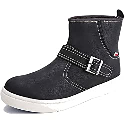 Men's Boots High-Top Leather Loafers Simple Approach-hiking Mountaineering Outdoor Shoes Casual HXZ-ZS819