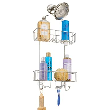 Amazoncom Mdesign Metal Bathroom Tub Shower Caddy Hanging