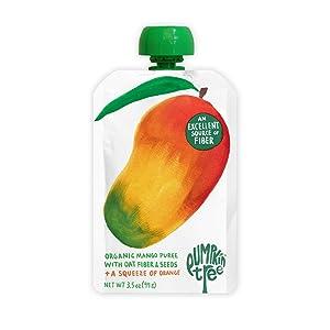 Pumpkin Tree Organics Fruit Snack Packet + Fiber + a Squeeze of Orange, 3.5 (Pack of 10), Mango